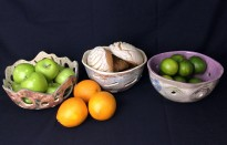Ceramic Bread & Fruit Bowls make for a beautiful presentation.