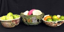 Ceramic Bread & Fruit Bowls for the uniquely artistic table.